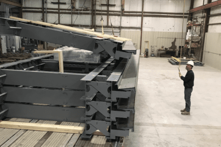 Inside Superior Walls manufacturing plant.